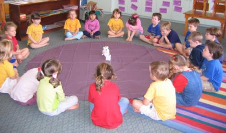 children-meditating